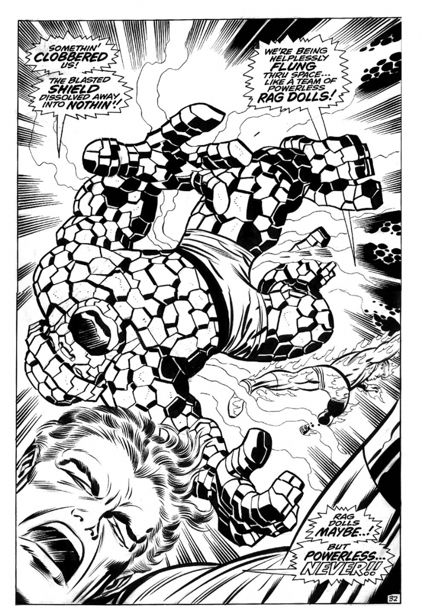 Fantastic Four Annual #6 Comic Art