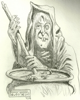 Al Feldstein Old Witch sketch Comic Art