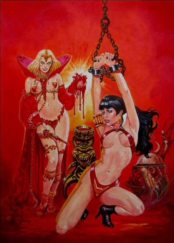 Vampirella and the Queen of Heart  by Esteban Maroto Comic Art