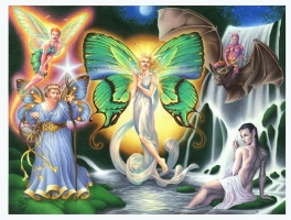 Please to Five Famous Faeries, Comic Art