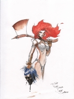 Red Sonja by Javier Saltares Comic Art
