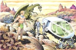 Herculoids meet Space Family Robinson (Dan SPIEGLE), Comic Art