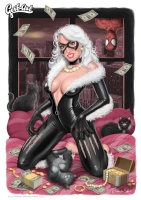 Black Cat - The loot Comic Art