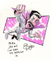 Roger Bonet Superlopez sketch Comic Art