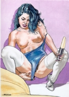 Liberatore pin-up Comic Art