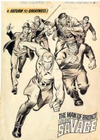 John Buscema Doc Savage 1 splash Comic Art