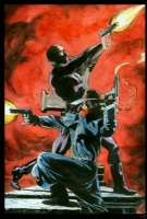 Bo Hampton The Shadow and the Phantom Comic Art
