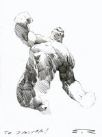 Esad Ribic Hulk sketch Comic Art