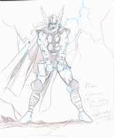 Oscar Jimenez Thor sketch Comic Art