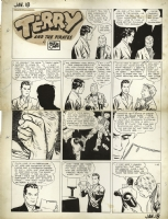 Milton Caniff Terry and the Pirates 1942 sunday Comic Art