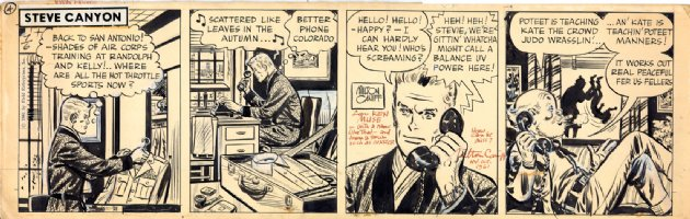 Milton Caniff Steve Canyon 1964 daily  Comic Art