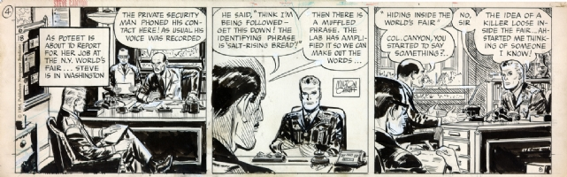 Milton Caniff Steve Canyon 1961 daily  Comic Art