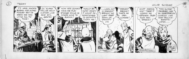Milton Caniff Terry and the Pirates 1938 daily Comic Art