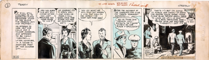 Milton Caniff Terry and the Pirates 1936 daily Comic Art