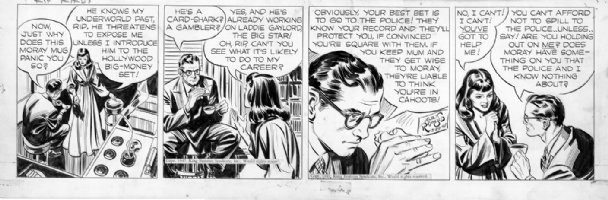 Alex Raymond Rip Kirby 1947 Comic Art