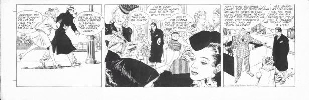 Alex Raymond Rip Kirby 1946 7th daily Comic Art