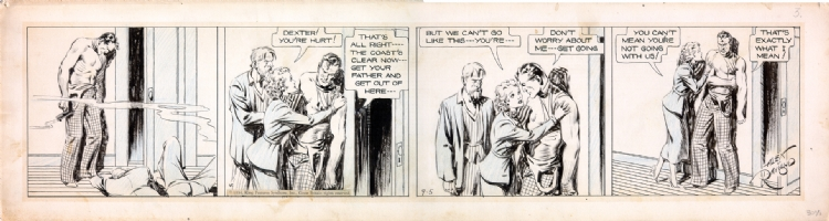 Alex Raymond Secret Agent X-9 daily Comic Art
