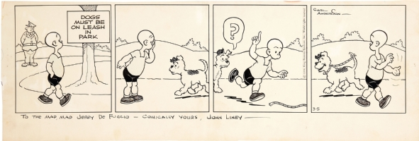 John Liney Henry 1956 dalily Comic Art