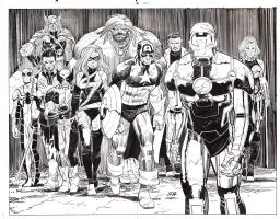 Romita Jr. - Avengers: Heroes Shattered poster art Comic Art