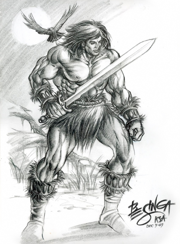 conan the barbarian comic. conan the arbarian Comic Art