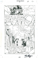 Justice League: Created Equal Issue 1 page 12 by Maguire and Rubinstein - Wonder Woman Defeated Comic Art