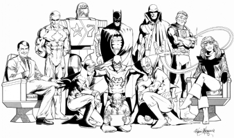 Justice League Class of 87 Poster by Kevin Maguire Comic Art