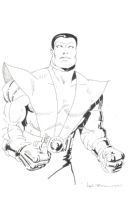 Colossus X-men Character Design by John Bolton Comic Art