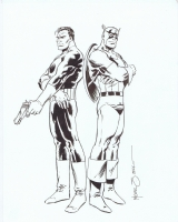 Punisher and Captain America by Mike Zeck Comic Art