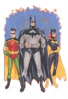 Batman, Robin and Batgirl by Phil Noto Comic Art