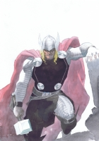 Thor Colour Convention Commission by Esad Ribic Comic Art