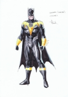 Gary Frank Batman (Sinestro Corp) Toy Design Colour Piece! Comic Art