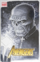 Avengers 1 Red Skull CGC SS 9.6 by Jim Cheung, Comic Art