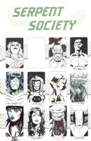 Serpent Society Jam Piece (Work In Progress) Comic Art