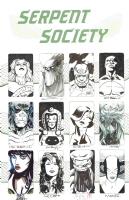Serpent Society Jam Piece Comic Art