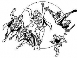 My Official Letterhead Supergirl,Superman and Friends Comic Art
