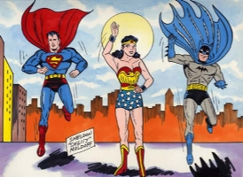 supes, Wonder, Batman! Comic Art