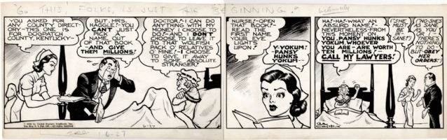 Li'l Abner daily 1936 Comic Art