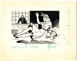 Ray Gotto: Illustration ca 1940 Comic Art