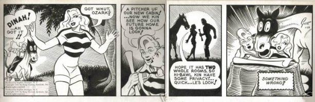 STOLEN? Ozark Ike daily 1947 Comic Art
