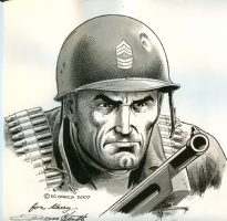 Russ Heath Sgt. Rock Comic Art