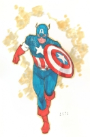 Captain America Comic Art