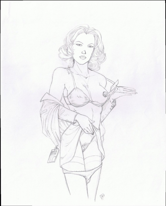 Dana Scully - T Catt, in Stanley Lui's Adult Comic Art Gallery Room
