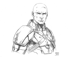 Lex Luthor Head Study by Jason Fabok, Comic Art