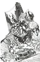 Batman Arkham Knight Cover by Jason Fabok, Comic Art