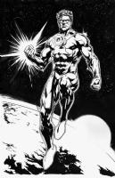 Green Lanter -JusticeLeague 39 inks Jason Fabok, Comic Art