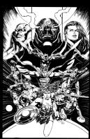 Justice League 50 Darkseid War Finale, Comic Art