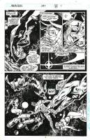 Avengers #347 p.7 - Quasar will save them all! by Buscema & Palmer Comic Art
