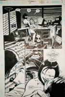 Transmetropolitan 39, pg 13 by Darick Robertson -signed- Comic Art