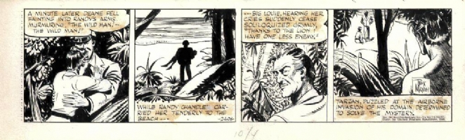 Rex Maxon Tarzan Strip Comic Art