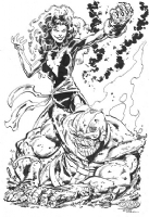 John Byrne Uncanny X-Men DARK PHOENIX  VS.  THANOS Infinity Gauntlet Comic Art